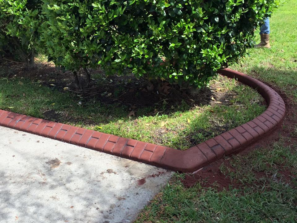 Landscaping curbing concrete borders summerville sc for Landscape edging